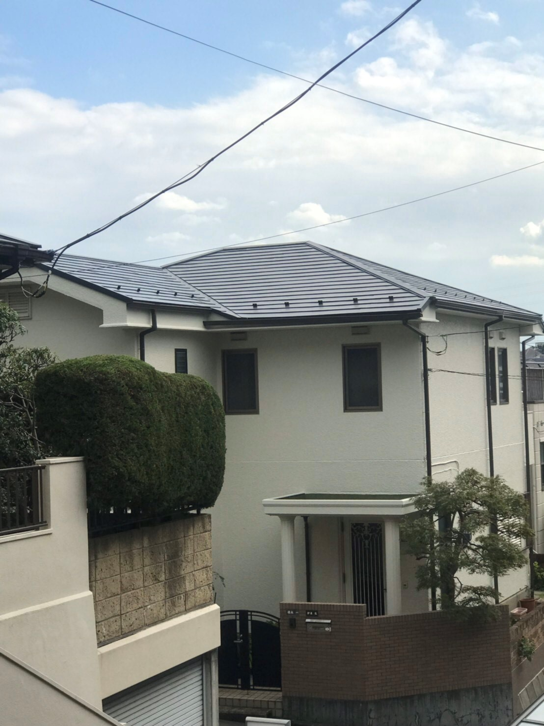 屋根カバー工法及び外壁塗装工事
